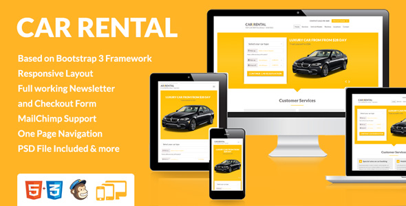 CarRental Landingpage